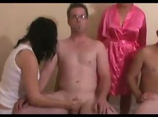 Mrs Wilson and Two Girls Jerking Cocks-daddi _: cfnm cumshots handjobs milfs