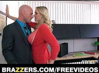 Busty blonde julia nails her boss _: office big ass