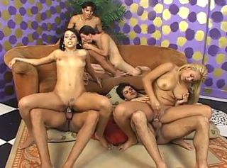 Bisexual couples start a wild orgy!