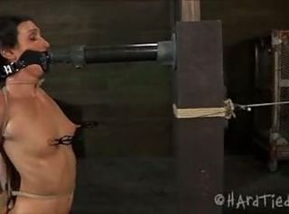 Wenona gets her nipples stretched in the dungeon _: round ass humiliation painful