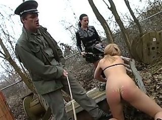 Blonde sex slave _: soldier femdom painful uniform