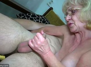 Young girls and old grannies masturbate with a toy _: strapon big natural tits