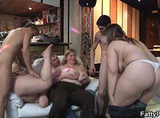 Chubby party girl gives head and boned from behind _: chubby big natural tits