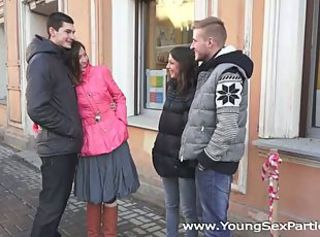 Amazing foursome with russian students _: innocent