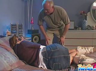 Sierra Sinn touched by a grandpa _: old man young woman