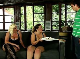 Pizza guy dominated by horny bbws _: chubby femdom