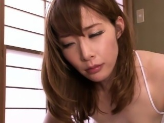 Cheating Japanese milf in negligee facialized