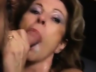 Mature Housewife Does Bukkake At A Party