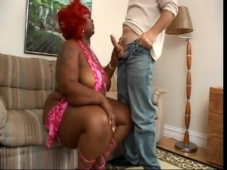 Ebony BBW and pallid guy free