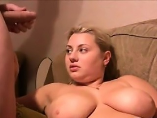 Blonde Russian With Big Tits Wants Cum