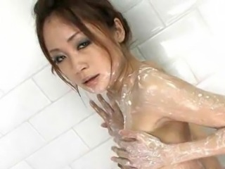 Graceful Japan Angel Sara seori wAshing her hawt arse and hairy pussy with...