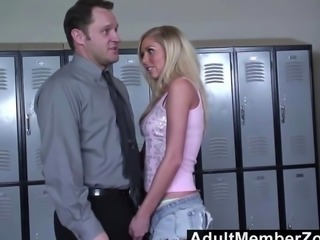 Brynn Tyler fucks the teacher to get out of trouble