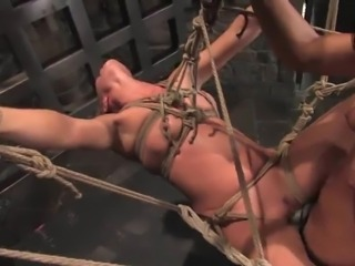 Roped Lull For Devaun inside A lesbo sadism