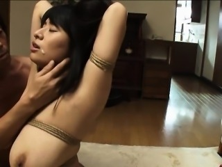 Huge boobs Japanese girl next door Hanna tied and tit fucked