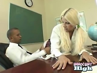busty schoolgirl teen teases her teacher by her ass