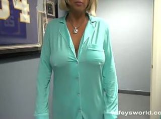 Busty blonde milf gets fucked at the office