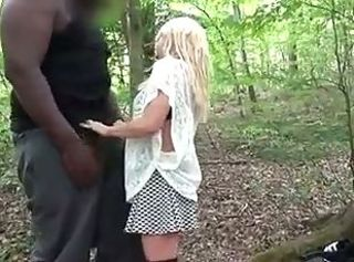 Slut fucked by Big Black Man in Forest