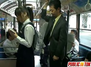 Busty schoolgirl fucked not susceptible the bus