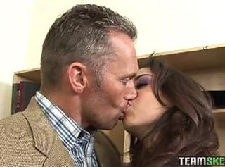 Trinity St Clair drinks cum from her older teacher