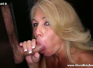 Gloryhole Secrets mature fair-haired sucks strangers cocks 2