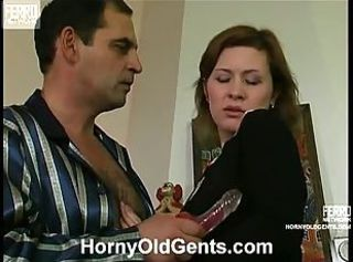 Old boss want her maid to toy her pussy then fuck