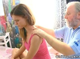 Grandpa cures teen Alyona's headache with blarney