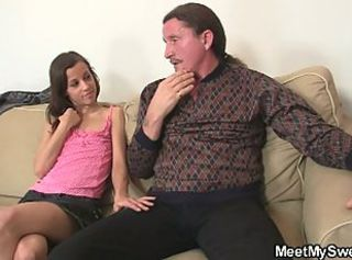 Young slut fucks her boyfriend's parents