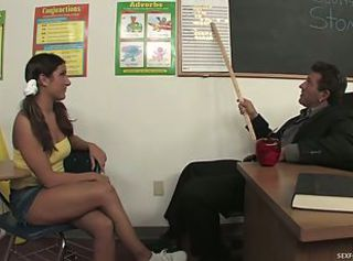 Slutty Teen Seduces Her Teacher