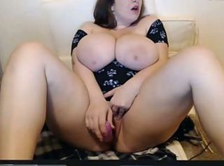 Girl connected with huge tits fucks transmitted to puss