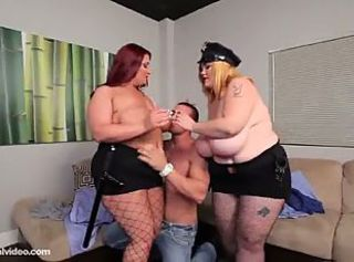 Big Tits  Natural Pornstar Threesome Uniform