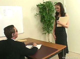 Hailey interview turned into naughty sex action