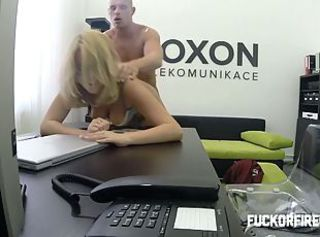 This is how my horny secretary earns her holiday.