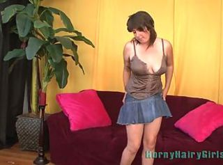 Very Hairy Vicki Juniper Even has Hair on her Nipples