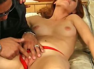 Cute redhead cheerleader loves big unchanging cock.