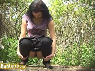 Babes pissing in public places
