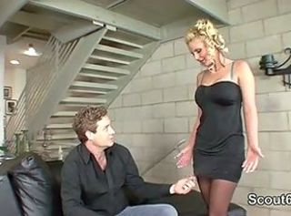 Perfect German MILF get fucked hard by Step-Son