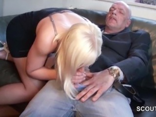German 18yr old Teen get fucked wide of Grandpa benefit of debts