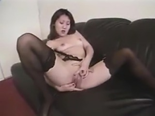 Korean Chick Masturbates And Sucks On A Cock