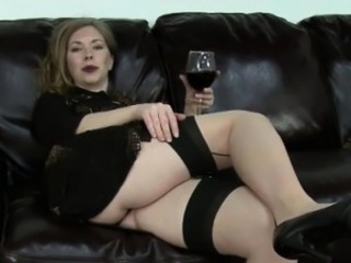 Amazing Chubby Drunk Mature Mom Stockings