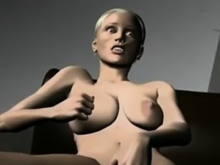 Busty Blonde Rubs Her Clit - Incredible 3D anime xxx videos