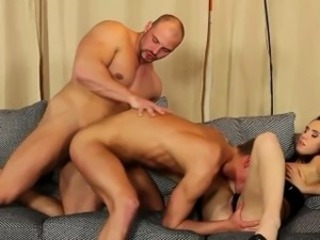 Threeway bi be thrilled by cum bang