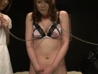 Bizarre japanese cuties all chained more