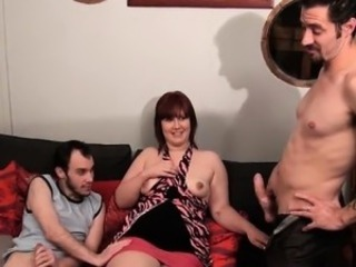 Amateur  European French  Mom Old and Young Threesome