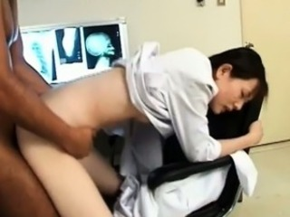 Sexy asian nurse gets horny part4