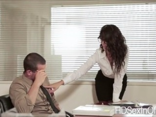 Sexy hot secretary Alexa Tomas gets will not hear of pussy banged in