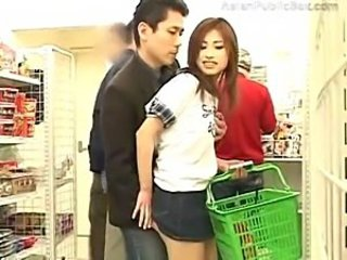 Asian sexual congress in a buzzing store