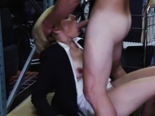 Milf in morose office attire get fucked and moaning so loud