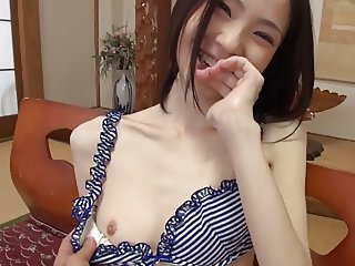 Skinny Japanese Girl get Fucked and Creamed