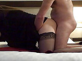 Hotel Tgirl gets a nice fucking and swallow