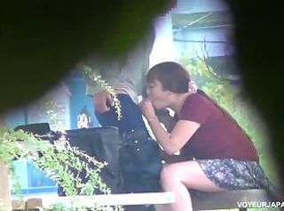 Asian brunette milf gets banged hard outdoors _: hidden cam spy cam voyeur